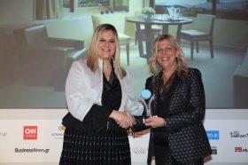 Κατηγορία Best Greek Business City Hotel_ SILVER  AWARD: NJV Athens Plaza. Την βράβευση έκανε η  κα Ευριδίκη Κουρνέτα, Γενική Γραμματέας Τουρισμού στην κα Αφροδίτη Αρβανίτη, Γενική Διευθύντρια.