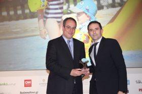 Κατηγορία Best Greek Family Resort_ BRONZE AWARD: Family Life Kerkyra Golf. To βραβείο παρέλαβε ο κ. Σάκης Σπύρου, Διευθυντής του ξενοδοχείου ΤUI FAMILY LIFE KERKYRA GOLF.