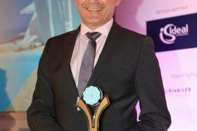 Κατηγορία Best Greek Excellence in Service Hotel _ GOLD  AWARD: Astra Suites. Tο βραβείο παρέλαβε ο κ. Γιώργος Καραγιάννης, General Manager.