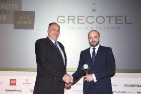 Κατηγορία Best Greek Sustainable Hotel _ GOLD AWARD: GRECOTEL HOTELS & RESORTS. To βραβείο παρέλαβε ο κ. Κωνσταντίνος Δασκαλαντωνάκης, Operations Manager