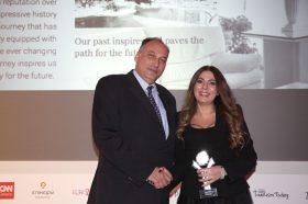 Κατηγορία Best Greek Hotel Brand_ SILVER AWARD: RODOS PALACE. To βραβείο παρέλαβε η κα Αρτεμις Καλατζάκου, Sales Manager, Αthens Office.