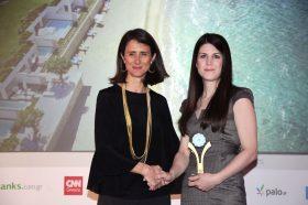 Κατηγορία Best Greek Innovation Hotel_ GOLD AWARD: GRECOTEL WHITE PALACE, LUX ME. To βραβείο παρέλαβε η κα Σοφία Γρηγοράτου, Sales Manager.