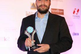 Κατηγορία Βest Greek Hotel Technology Innovation_SILVER  AWARD: m-Hospitality. To βραβείο παρέλαβε o κ. Μανώλης Δημακαρέας, Project Manager.