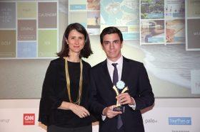 Κατηγορία Best Greek Hotel Mobile App_GOLD  AWARD: m-Hospitality. To βραβείο παρέλαβε o κ. Γιώργος Βελλίδης, Marketing Manager του Costa Navarino.