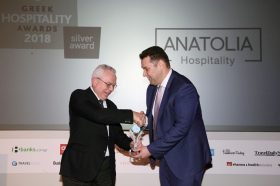Κατηγορία Best Greek Hotel Marketing Strategy_SILVER  AWARD: Anatolia Hospitality. To βραβείο παρέλαβε ο κ. Μιχάλης Χυσοχοϊδης, Managing Director - CEO.