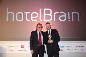 Κατηγορία Best Greek Hotel Management Strategy_GOLD AWARD:  HOTEL BRAIN. To βραβείο παρέλαβε ο κ.  Κώστας Ζήκος, CEO.