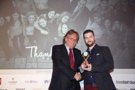 Κατηγορία Best Hotel Sales Representative Company_GOLD AWARD: AXIA HOSPITALITY. To βραβείο παρέλαβε ο κ. Γιάννης Κυρίτσης, Ιδρυτής & Διευθύνων Σύμβουλος.