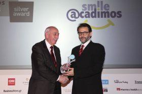 Κατηγορία Best Tour Operator_SILVER AWARD: SMILE ACADIMOS. To βραβείο παρέλαβε ο κ. Βασίλειος Μιχαλακόπουλος, Γενικός Διευθυντής.