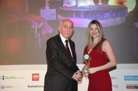 Κατηγορία Best Greek Day Use Hotel_GOLD AWARD: APARTMENTS - SUITES PRIAMOS EE. To βραβείο παρέλαβε η κα  Ιωάννα Κουκή, Υπεύθυνη.