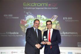 Κατηγορία Best Hotel Marketing & Social Media Provider_GOLD AWARD: Ekdromi.gr